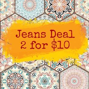 Bundle any 2 pairs of jeans or pants for $10!